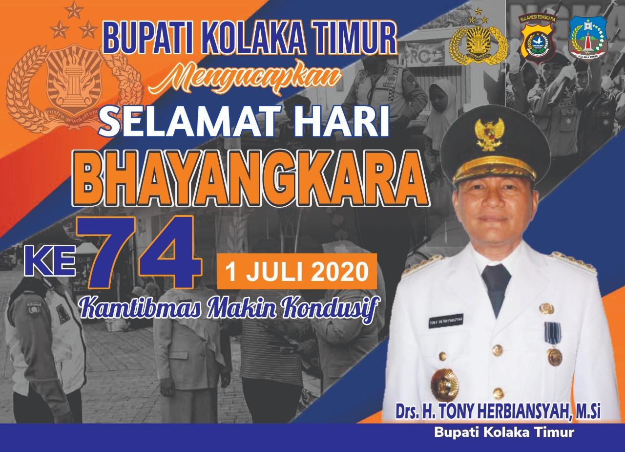 SELAMAT HUT BHAYANGKARA KE-74 TAHUN 2020